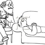 Psychiatrist and patient on a couch