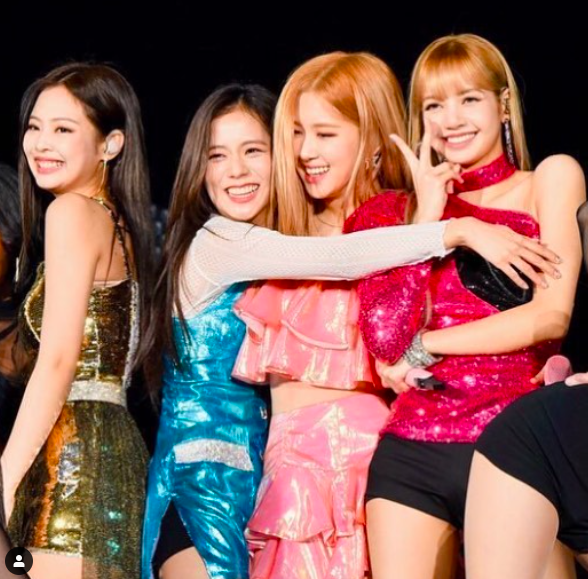 South Korean Girl Band BLACKPINK Celebrates Third