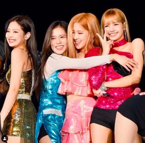 South Korean girl band BLACKPINK celebrates third
