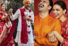 dia-mirza's-banarasi-red-bridal-saree-same-as-deepika-padukone's-last-diwali-one