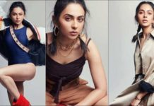 rakul-preet-channels-inner-swagger-for-magazine-shoot-in-bodysuit,-pleated-dress