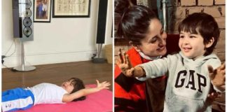 kareena-kapoor-shares-photo-of-taimur-stretching-on-a-yoga-mat-with-funny-caption,-fan-calls-him-'upcoming-indian-yogi'