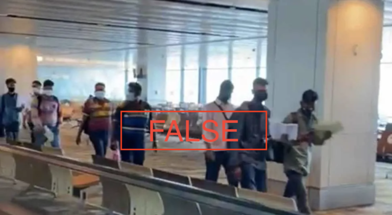 Singapore Incidents issued POFMA correction direction over viral video of South Asian travellers arriving at Changi Airport